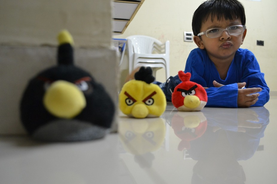 Emotions of Angry Bird in Kid!!