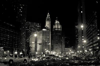 Downtown Chicago B&W