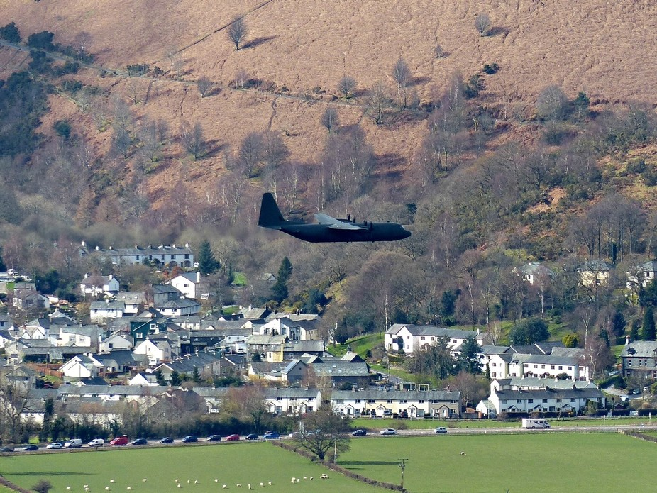 taken from Latrigg in the Lake District, one of two flying past