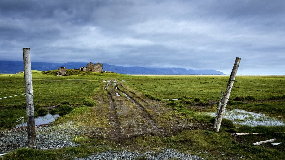 This scene shot mid morning one day on the south coastal plane of Iceland. A lonely but very beau...