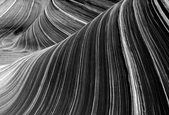Sandstone Striations by springlake - A Black And White World Photo Contest