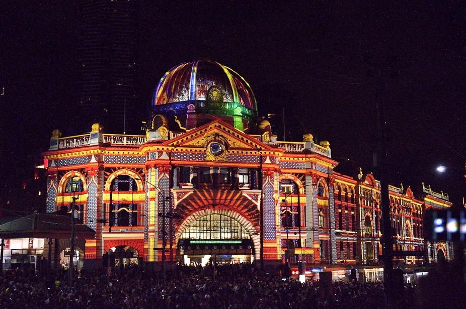 Flinders St.Station.