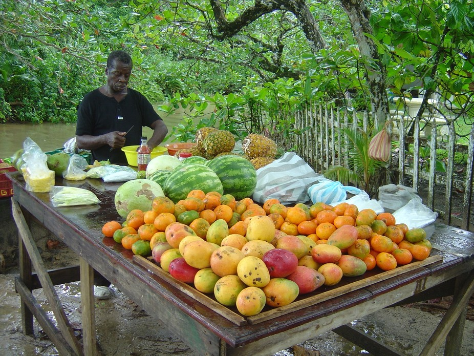Fruit seller In Cahuita, Costa Rica