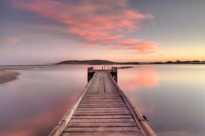 Pretty pink clouds at dawn