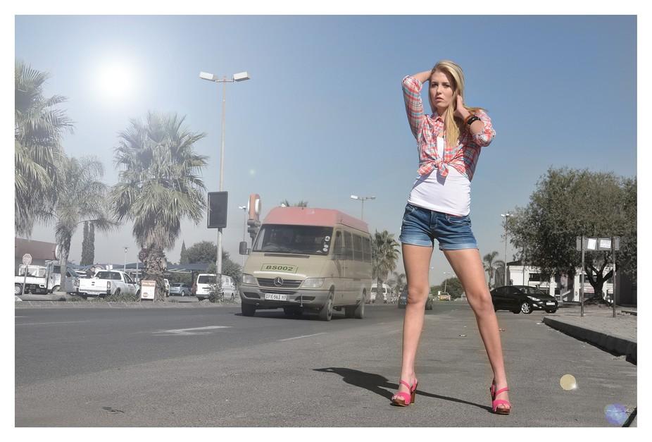 Picture taken of Chantelle in public traffic