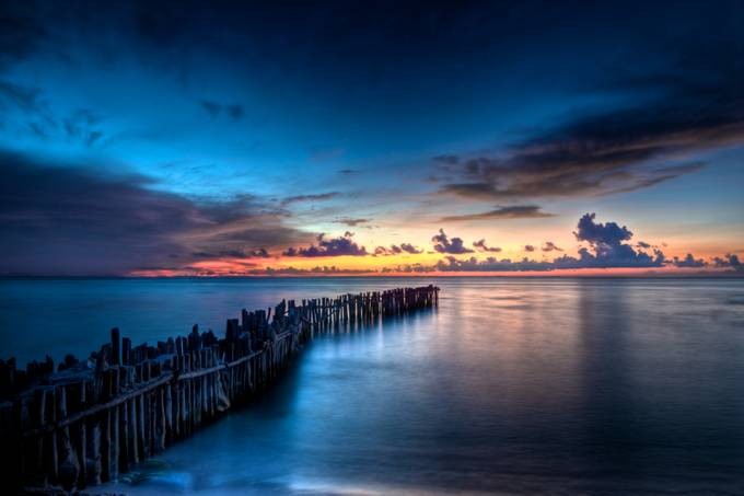 Isla Mujeres Magic Sunset by RiccardoMantero - Blue Skies Photo Contest