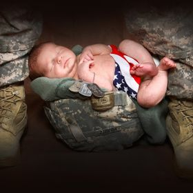 This picture made all of my heart and soul from my niece's husband who served in Iraq for several years, risked his life and six time was near de...