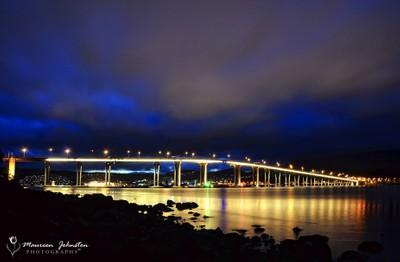 Tasman Bridge at Dusk !