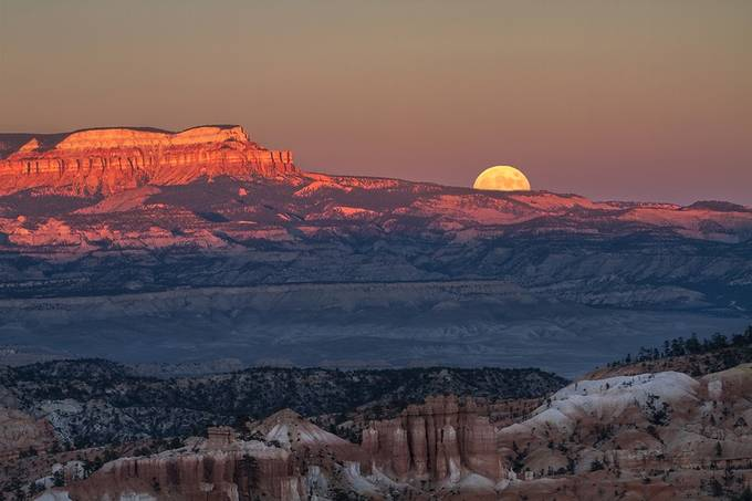 Moonrise Over Bryce Canyon by Lina1 - The Moonlight Photo Contest
