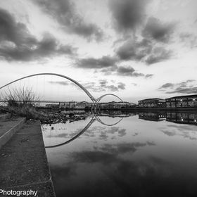 B&W Reflection Over The Tees