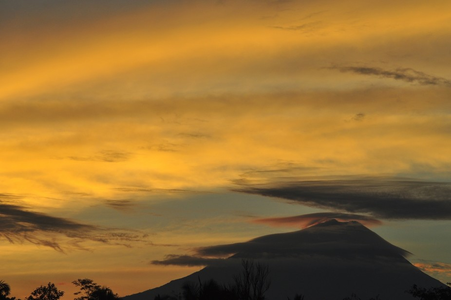 Clouds on Mountain Merapi