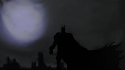 black and white batman