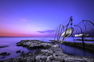 Hanging boats of Istria