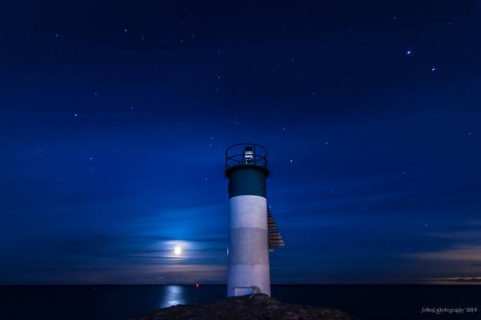 Moon rise lighthouse-2421 by Follest - Moonlight Photo Contest