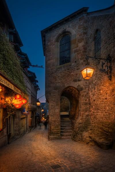 France - Street in Mont Saint Michel