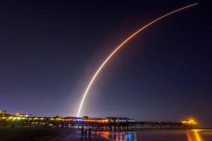 Atlas IV Rocket lifts off from Cape Canaveral, FL by jackmiller - Our World At Night Photo Contest