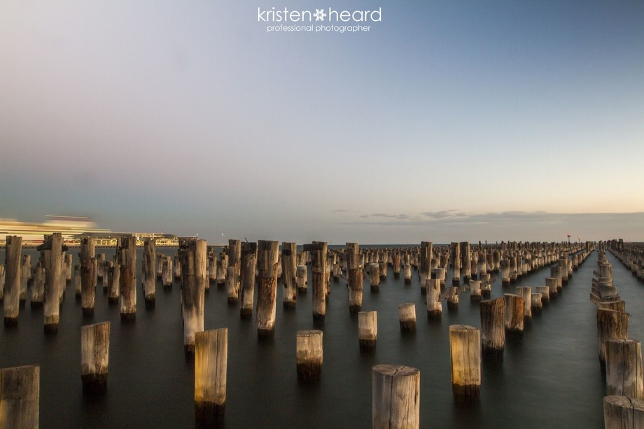 Princes Pier, Port Melbourne at dusk.  Such a pretty, peaceful & calm place to chill out and ...