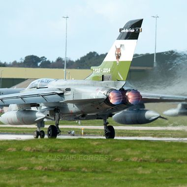 RAF Tornado afterburners full