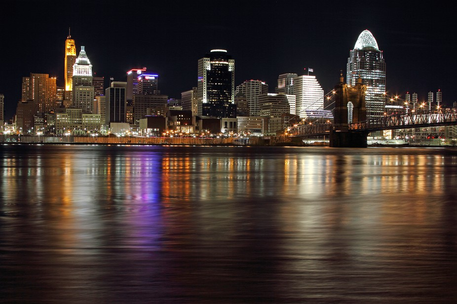 This capture of Cincinnati was taken across the Ohio River in Covington, Ky.