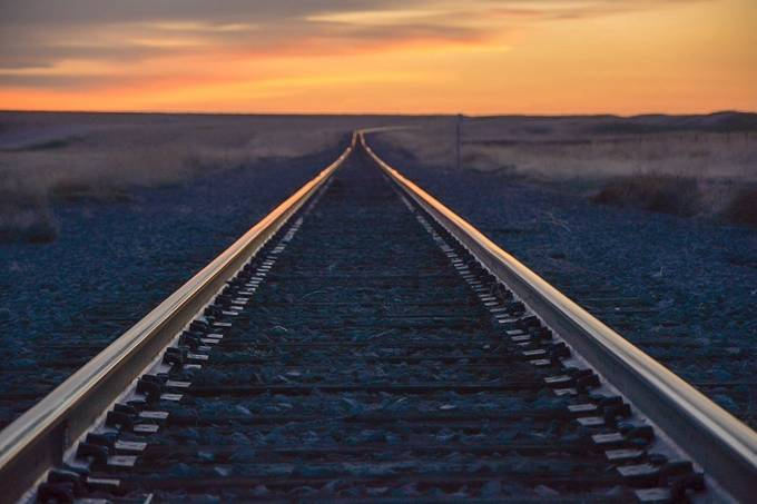 Sunset railway by feliciamireles - Empty Railways Photo Contest