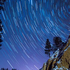 Star Trails on a beautifully clear spring night in Western Montana.