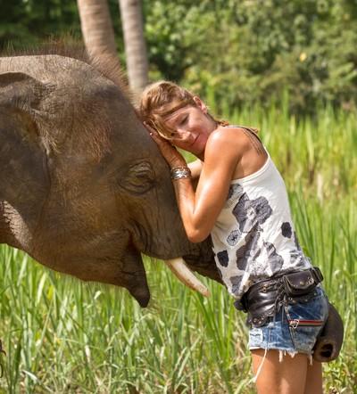 Elephant with patricia 68