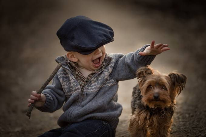 A boy and his dog by adrianmurray - I Heart Animals Photo Contest