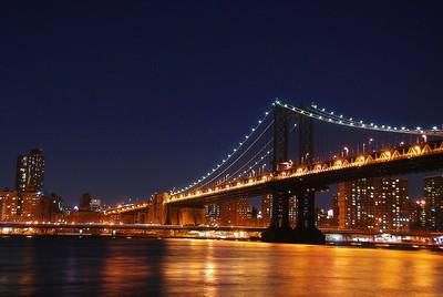 Nighttime Manhattan Bridge