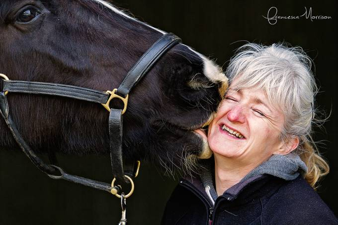Owners kiss. by fmequine - I Heart Animals Photo Contest