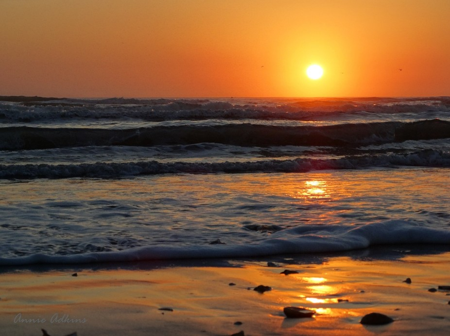 Sunrise at South Padre Island, Texas.