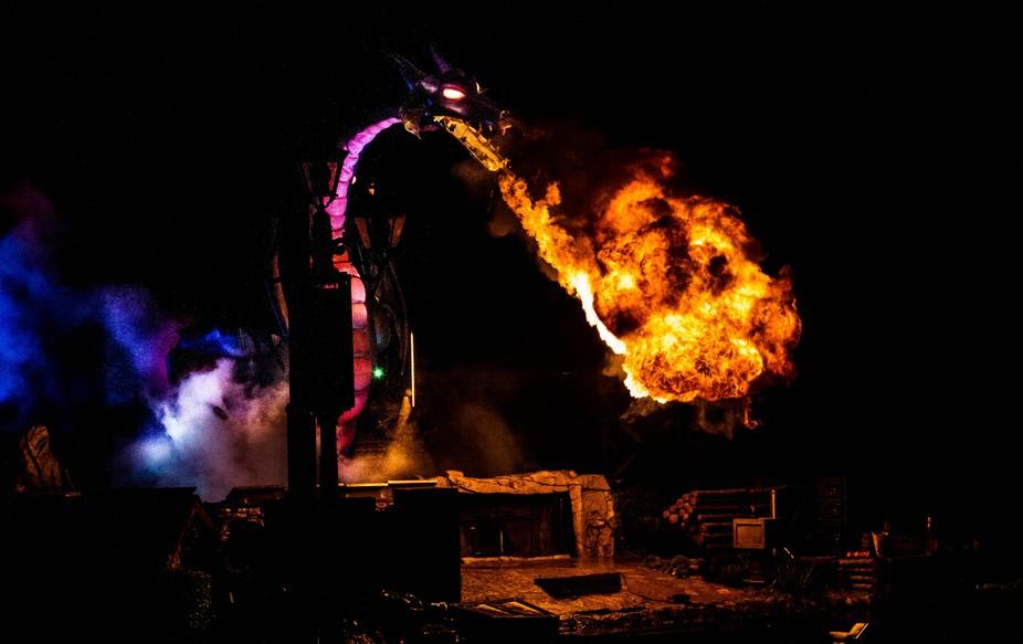 This is the Dragon during Fantasmic at Disneyland.