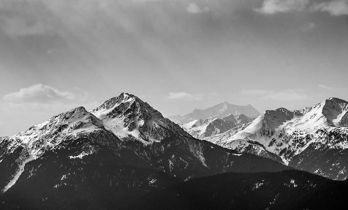 In the Heaven by ErikSvec - Black And White Mountain Peaks Photo Contest
