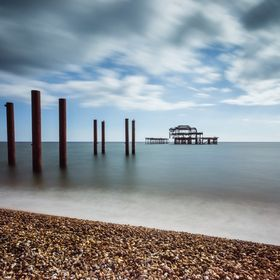 The skeletal remains of West Pier, Brighton, opened in 1866, various fires and storms have been destroying the pier since 1975. I had in mind to ...