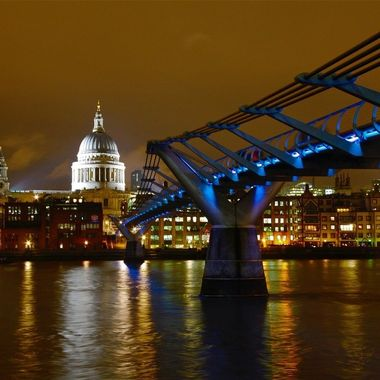 St. Paul's from across the Thames at night