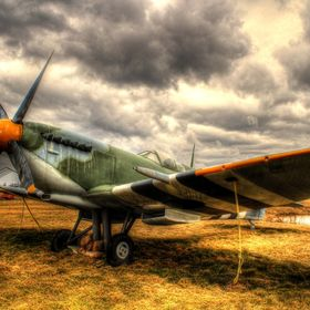 Spitfire airplane, most popular at the end of WWII.