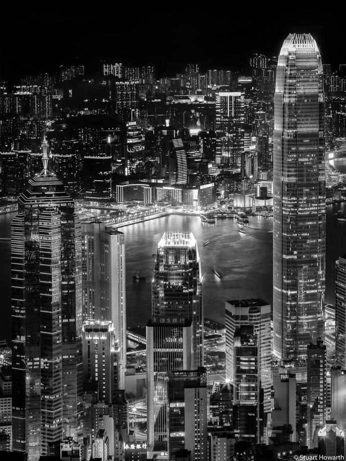 Hong Kong at Night by stuarthowarth - City Views Photo Contest