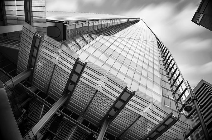 Shard B&W by martynleaning - Structures in Black and White Photo Contest