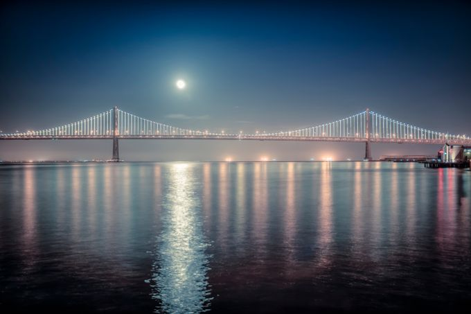 Bay Bridge by shannongriswold - Moonlight Photo Contest