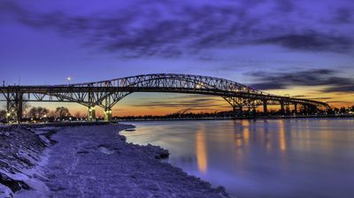 Bluewater Bridge in the Blue Hour
