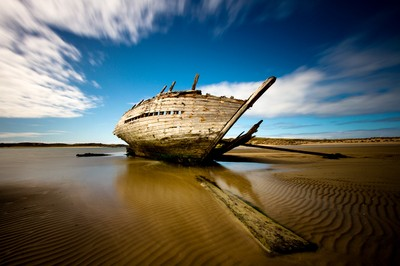 Bunbeg Shipwreck in County Donegal