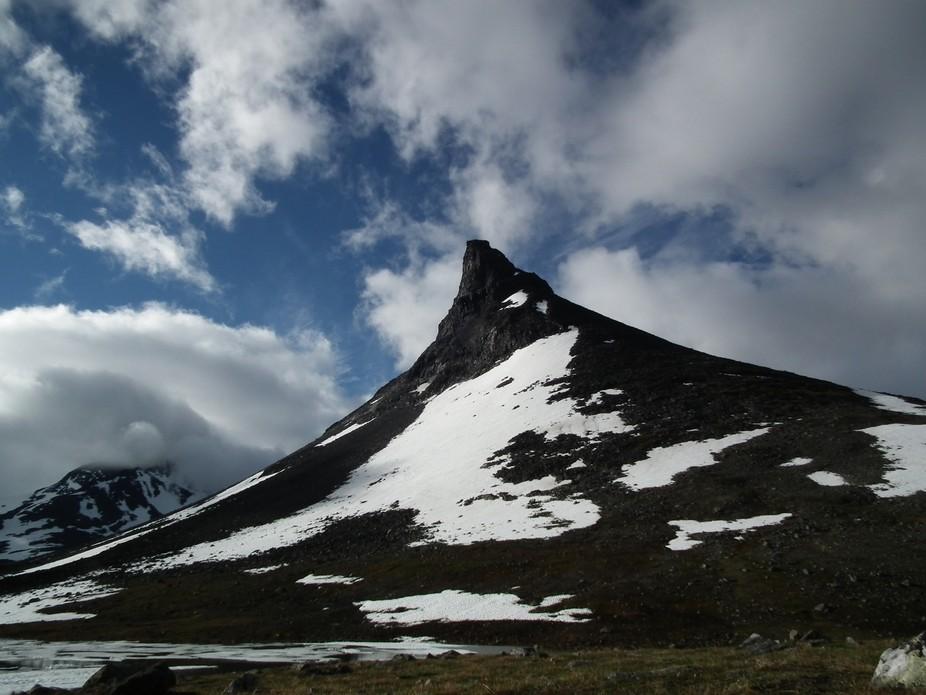 "Characteristic peak ""church"" in Jothunheimen Mountains."