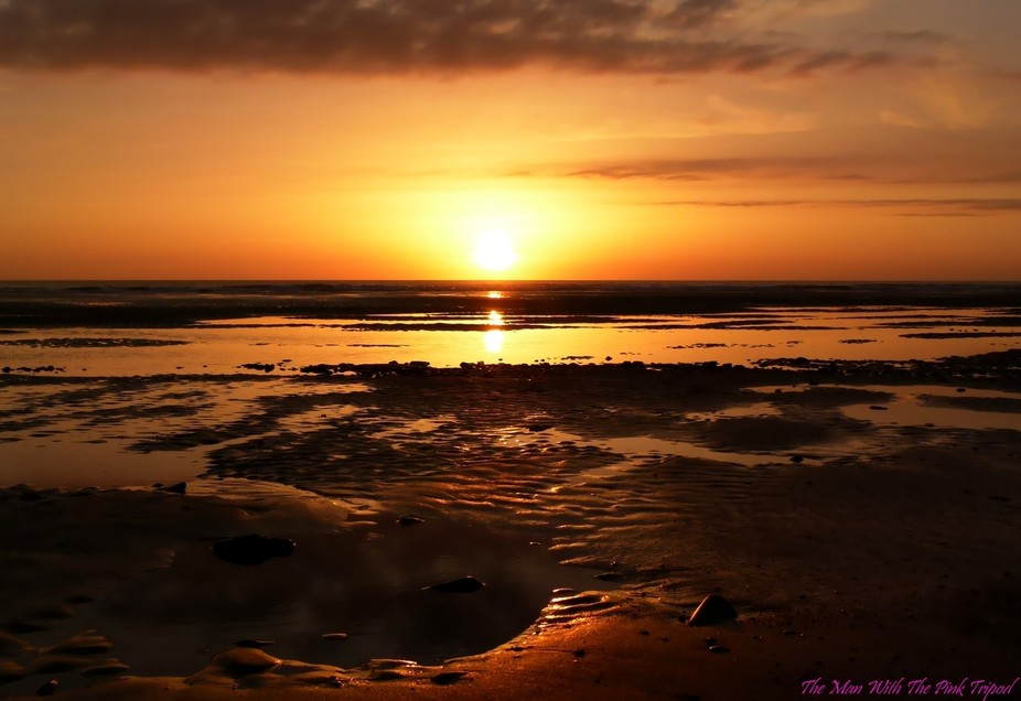 Sunset on St.Ouen beach, Jersey, Channel Islands