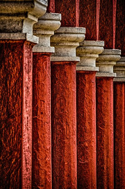 Red Columns in Bermuda
