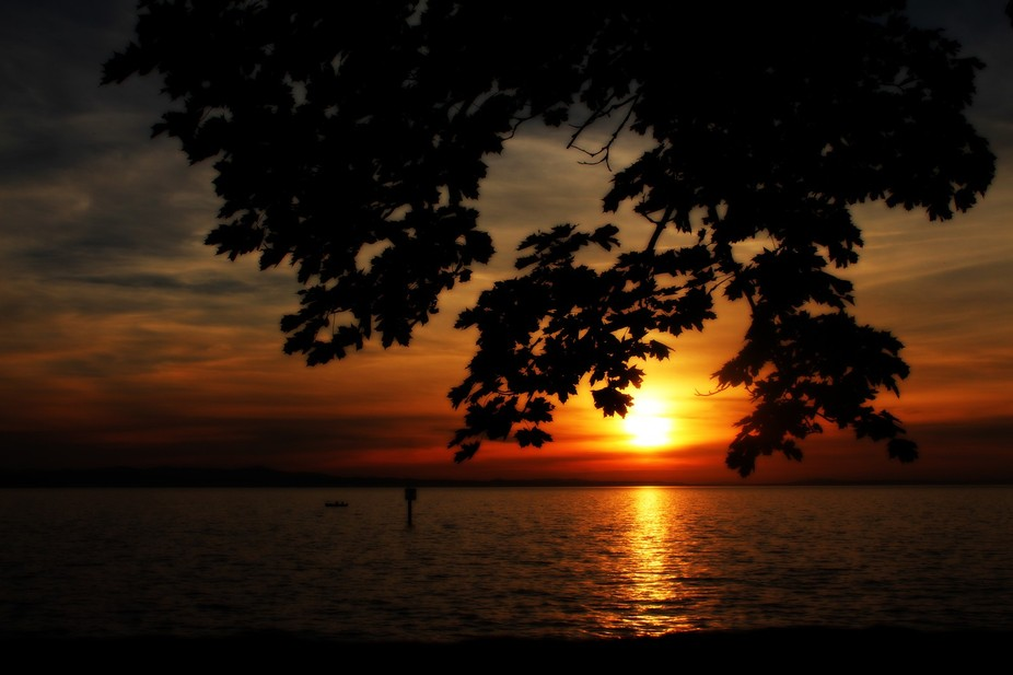 sunset at Bodensee