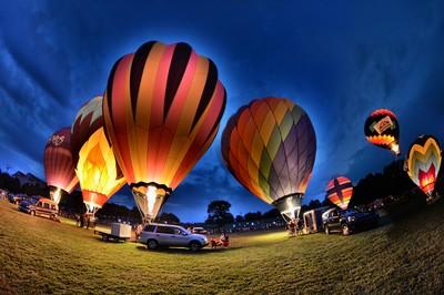 Preakness Balloon glow 2013 Maryland
