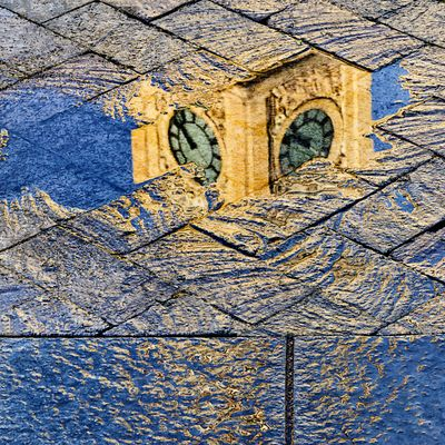 The Clock Tower Reflected