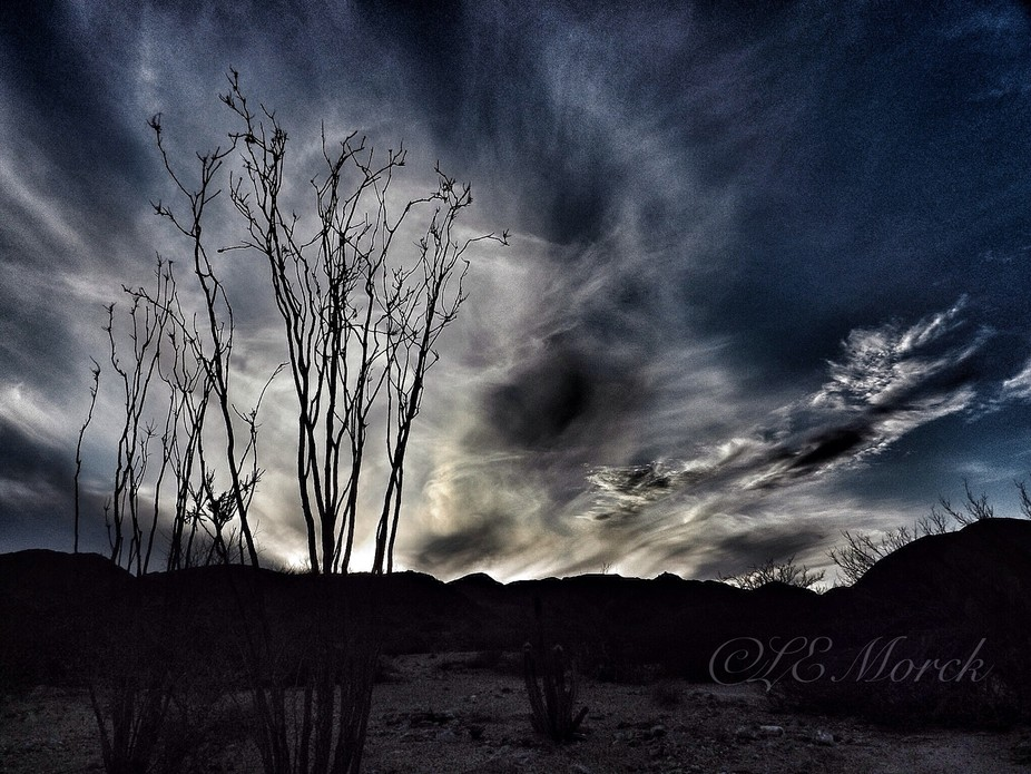 While exploring the hills southwest of San Felipe, I was treated to this spectacular lAte afterno...