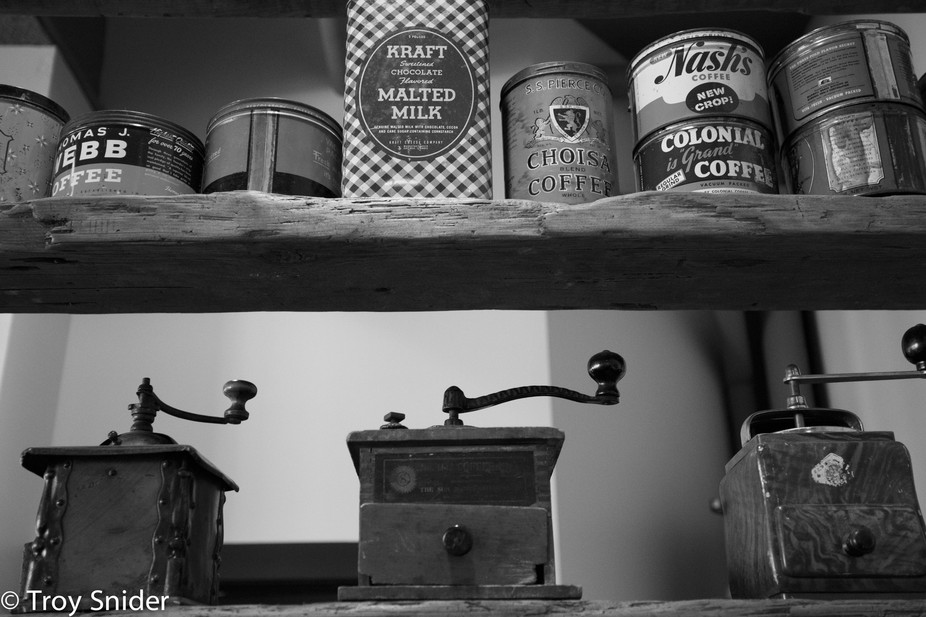 Old Cans and Coffee Mills