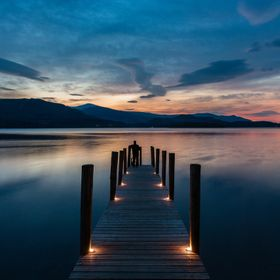 I created this image at sunset using little candles to accentuate the jetty uprights. Its one of my favourite images overall now. The light was j...