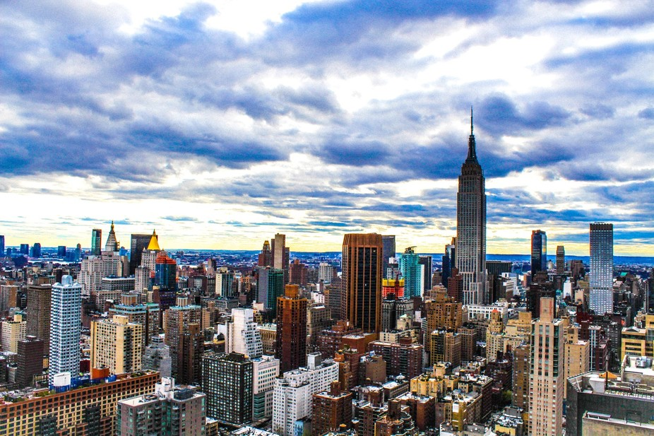New York City Life. Love my city.  This is the view from my brother\'s Terrace. The sky was just p...